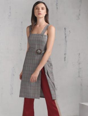 PORCH SLEEVELESS DRESS W/ BELT